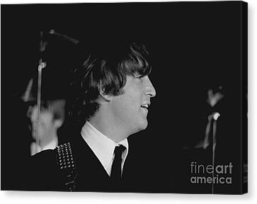 John Lennon, Beatles Concert, 1964 Canvas Print