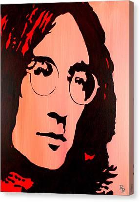 Canvas Print featuring the painting John Lennon Beatles Pop Art by Bob Baker