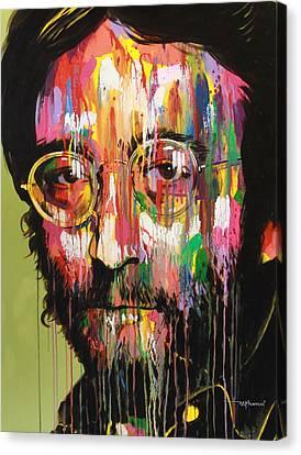 John Lennon Canvas Print by Bruce McLachlan