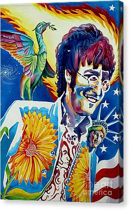 John Lennon Canvas Print by Debbie  Diamond