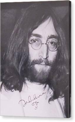 John Lennon Canvas Print by Donna Wilson