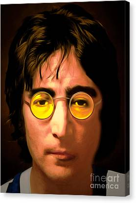 John Lennon Imagine 20150305 Canvas Print by Wingsdomain Art and Photography
