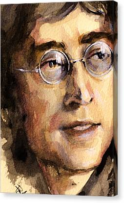 Canvas Print featuring the painting John Lennon by Laur Iduc