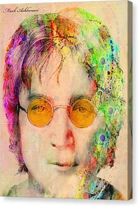 John Lennon Canvas Print by Mark Ashkenazi
