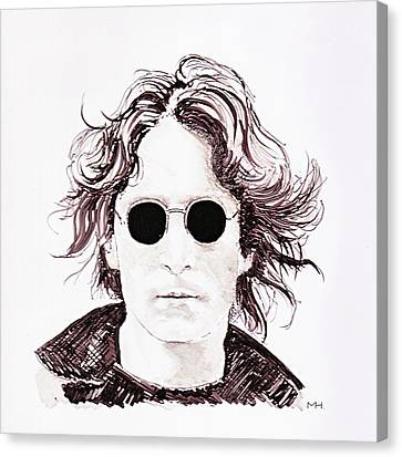 John Lennon Canvas Print by Martin Howard