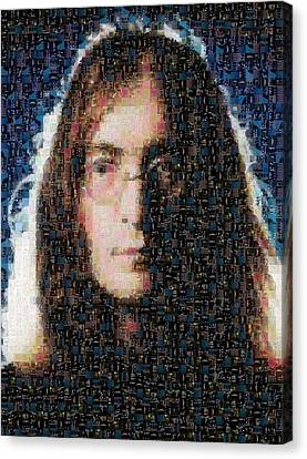 John Lennon Mosaic Image 1 Canvas Print