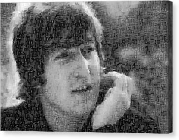 John Lennon Mosaic Image 10 Canvas Print