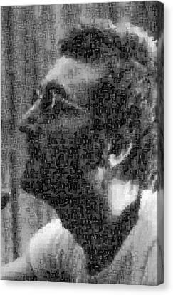 John Lennon Mosaic Image 12 Canvas Print