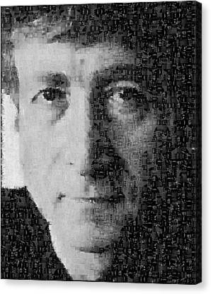 John Lennon Mosaic Image 15 Canvas Print
