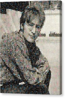 John Lennon Mosaic Image 2 Canvas Print