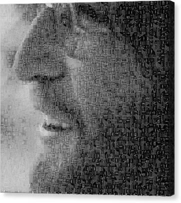 John Lennon Mosaic Image 5 Canvas Print