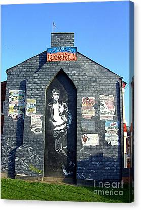 John Lennon Mural Liverpool Uk Canvas Print