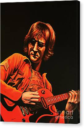 Yesterday Canvas Print - John Lennon Painting by Paul Meijering