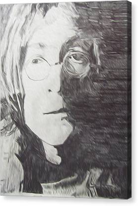 John Lennon Pencil Canvas Print
