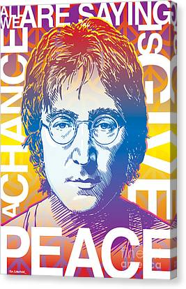 John Lennon Pop Art Canvas Print
