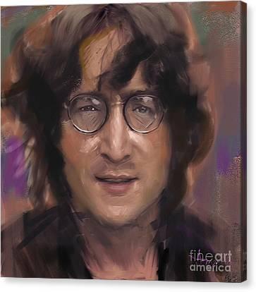 John Lennon Portrait Canvas Print by Dominique Amendola