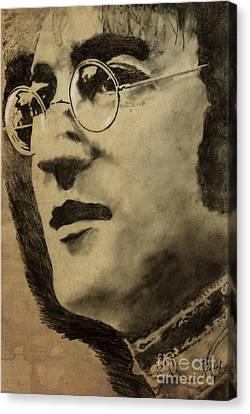 John Lennon Portrait Canvas Print by Pablo Franchi
