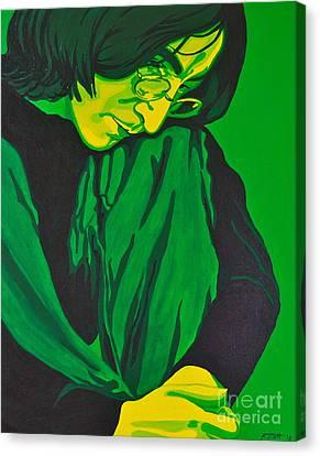 John Lennon Canvas Print by Rebecca Mott