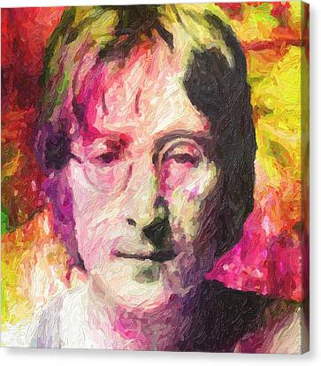 John Lennon Canvas Print by Taylan Apukovska