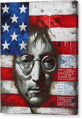 John Lennon -the Man Of Peace Canvas Print by Vitaliy Shcherbak