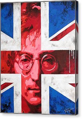 John Lennon -the Man Of Peace.the Number One Canvas Print by Vitaliy Shcherbak