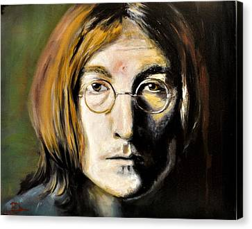 John Lennon Unseen Canvas Print by Ruben Barbosa