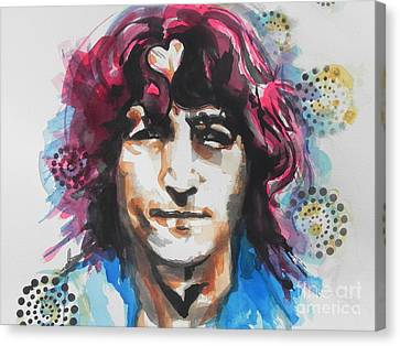 John Lennon..up Close Canvas Print by Chrisann Ellis