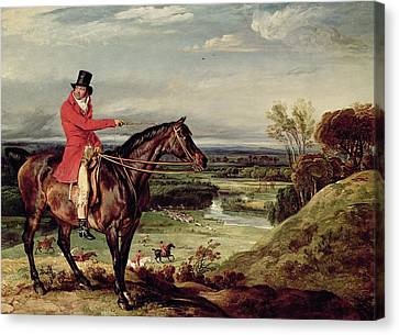 John Levett Hunting In The Park At Wychnor Canvas Print by James Ward