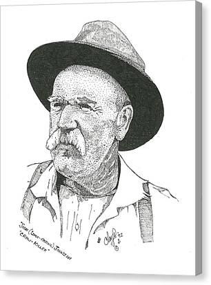John Liver Eatin Johnson Canvas Print