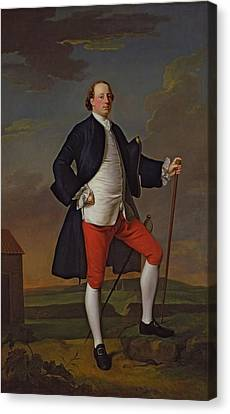 John Manners, Marquess Of Granby, 1745 Canvas Print by Allan Ramsay