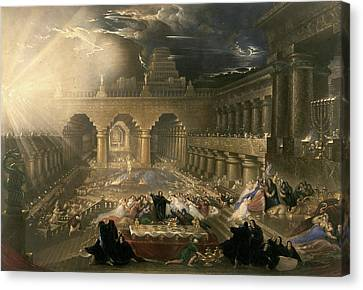 John Martin, Belshazzars Feast, British Canvas Print by Litz Collection