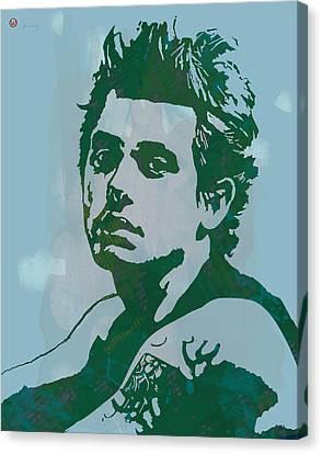 John Mayer - Pop Stylised Art Sketch Poster Canvas Print by Kim Wang