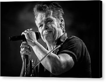 John Mellencamp In Black And White - Farm Aid Canvas Print by Jennifer Rondinelli Reilly - Fine Art Photography