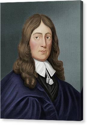John Milton Canvas Print by Maria Platt-evans
