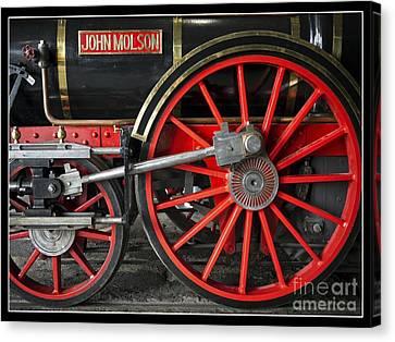 John Molson Steam Train Locomotive Canvas Print by Edward Fielding
