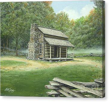 John Oliver Cabin Canvas Print by Bob  George