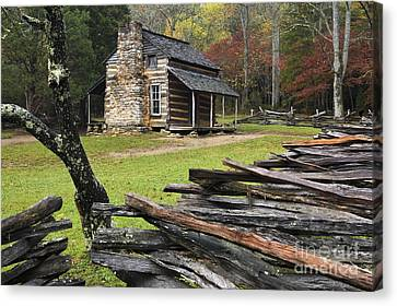 John Oliver Cabin - D000352 Canvas Print by Daniel Dempster