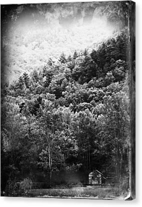 Gatlinburg Tennessee Canvas Print - John Oliver's Cabin by Susie Weaver