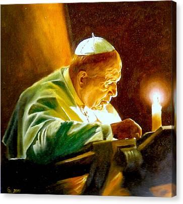 John Paul II Canvas Print by Henryk Gorecki