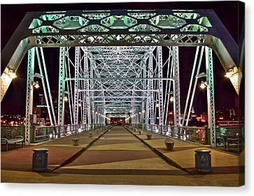 John Seigenthaler Pedestrian Bridge Canvas Print by Frozen in Time Fine Art Photography