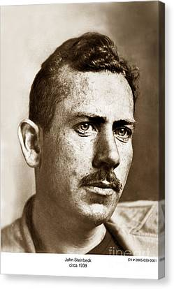 John Steinbeck American Author Circa 1938 Canvas Print by California Views Mr Pat Hathaway Archives