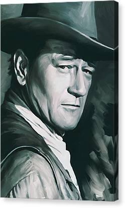 Wayne Canvas Print - John Wayne Artwork by Sheraz A