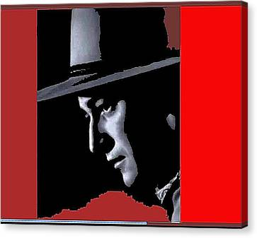 Canvas Print featuring the photograph John Wayne As The Ringo Kid Stagecoach 1939-2013 by David Lee Guss