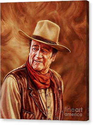 John Wayne Canvas Print by Dick Bobnick