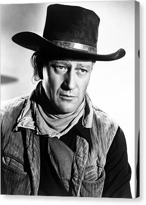John Wayne In Red River  Canvas Print by Silver Screen