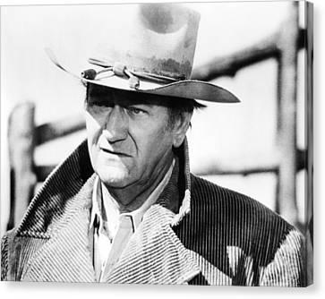 John Wayne In The Cowboys  Canvas Print