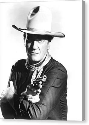 John Wayne In The Man Who Shot Liberty Valance Canvas Print by Silver Screen