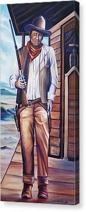 John Wayne Canvas Print by James Christopher Hill