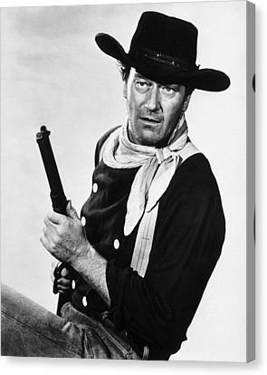 Bandana Canvas Print - John Wayne by Silver Screen