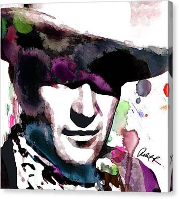 John Wayne Water Color Pop Art By Robert R Canvas Print
